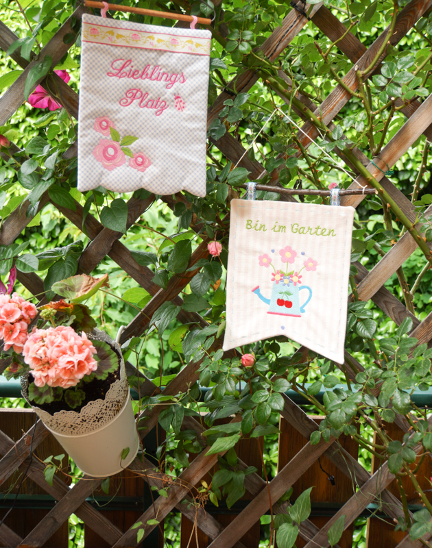 Rosamine Gartenwimpeln