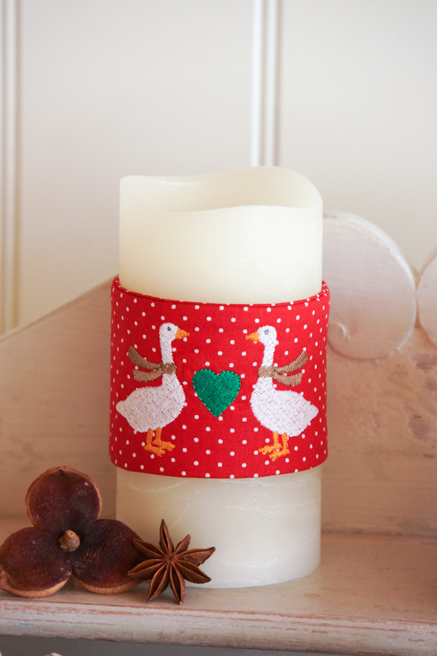Stickdatei Kerzenbänder