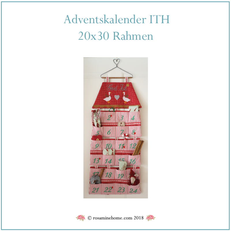 Stickdatei Adventskalender ITH