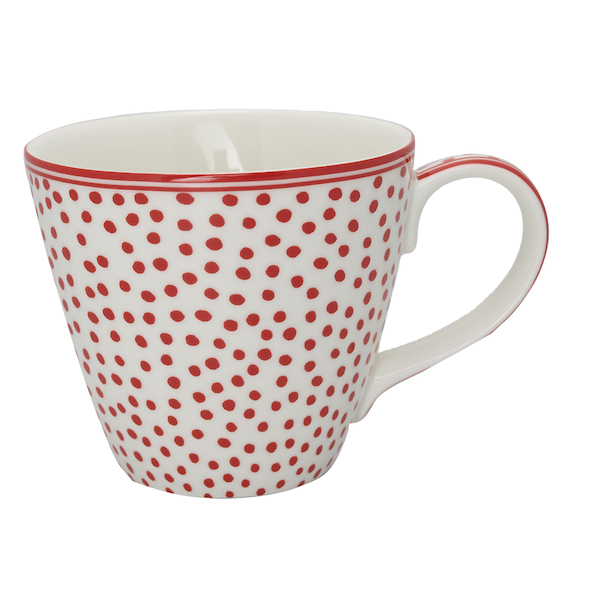 GreenGate Tasse, Dot white
