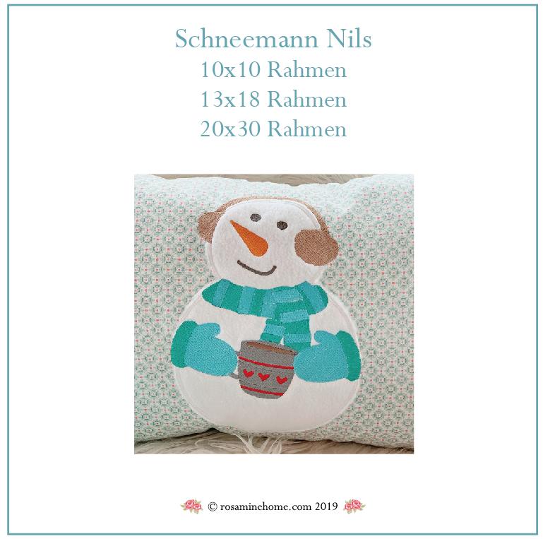 Stickdatei Schneemann Nils