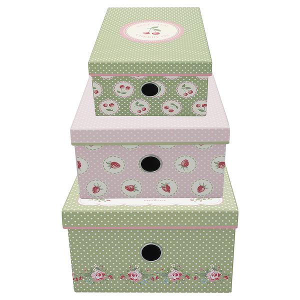 GreenGate Aufbewahrungsboxen Mary white, Karton