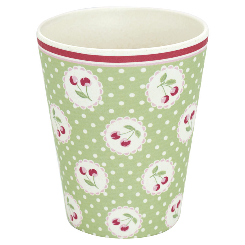 GreenGate Becher Cherry berry green
