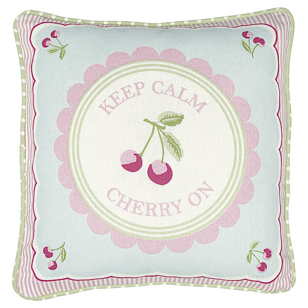 GreenGate Kissen Cherry mega white 40x40