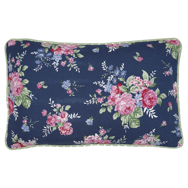 GreenGate Kissen Rose dark blue 30x50