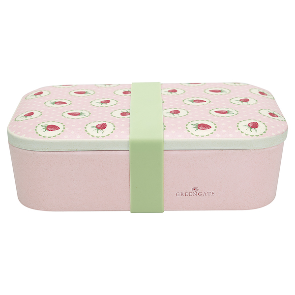 GreenGate Lunchbox, Strawberry pale pink