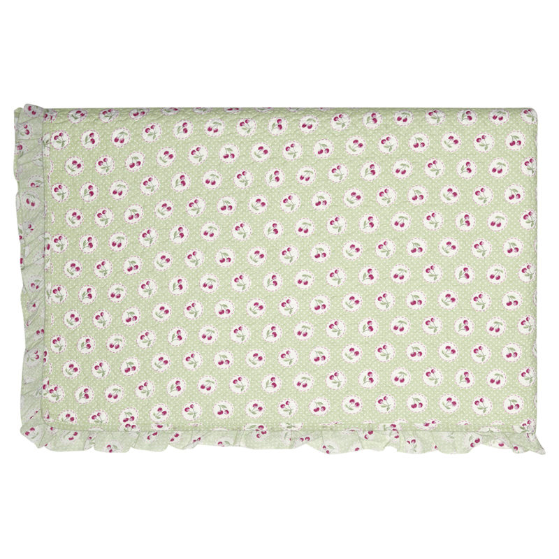GreenGate Quiltdecke Cherry berry green