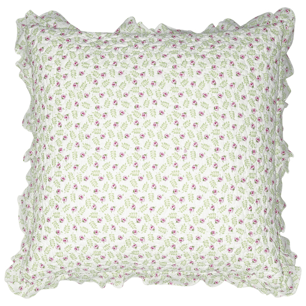 GreenGate Quiltkissen Lily petit white 50x50