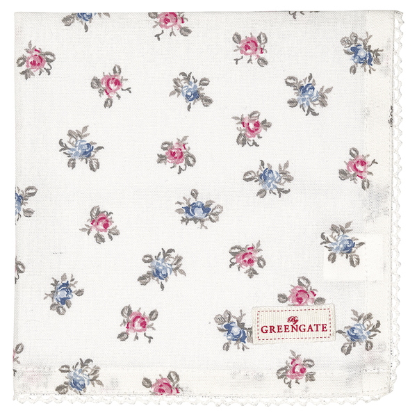 GreenGate Serviette Hailey petit white