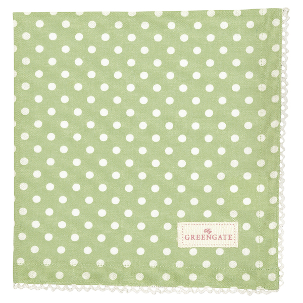 GreenGate Serviette Spot pale green