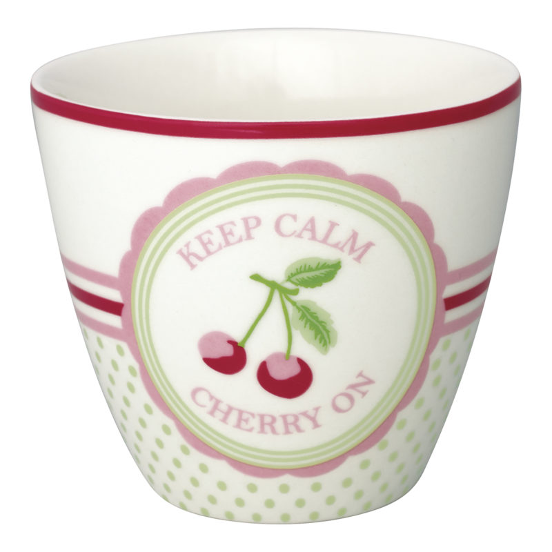 GreenGate Latte Cup Cherry mega white
