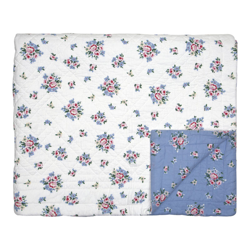 GreenGate Quiltdecke, Nicoline dusty blue