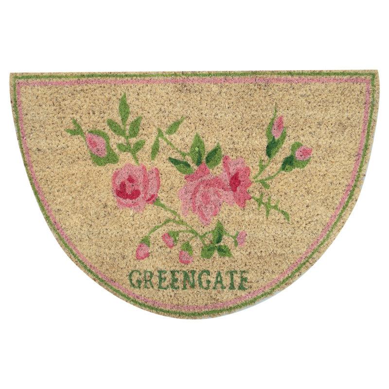 GreenGate Türmatte Ottilia white halbrund
