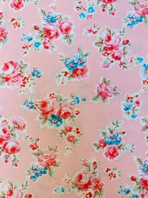 Lecien Stoff Blumen rosa